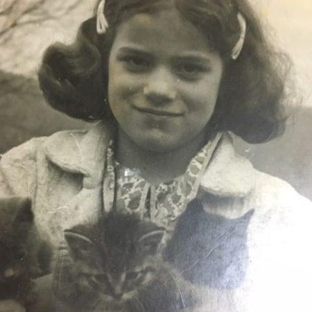 Ardis Edgerton, G.I. Homecoming, 1945 (girl in blue dress.)