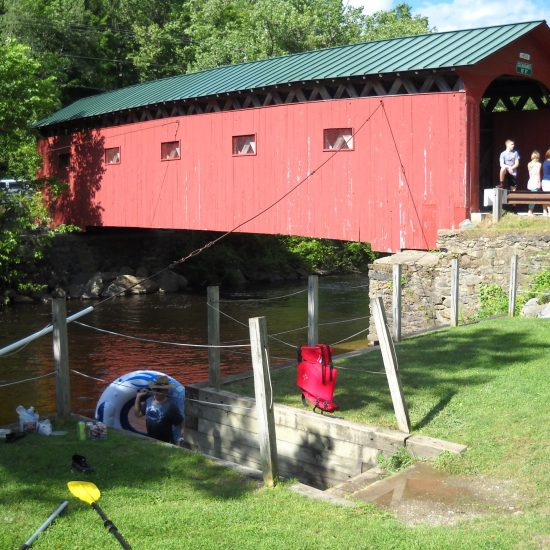 It is likely people began swimming in the Batten Kill river under the covered Bridge when it was built in 1867. In the forties and fifties, Norman's wife Mary would sit on a towel on the bank and watch her sons Jarvis, Tommy, and Peter. Used to the warmer Long Island Sound water in New Rochelle, Norman did not care for the brisk water, but he would wade so that he could teach his son Peter to swim.