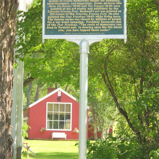 Norman's former studio stands in the back yard of his former home, and it was there he created the Four Freedoms and many other iconic paintings.