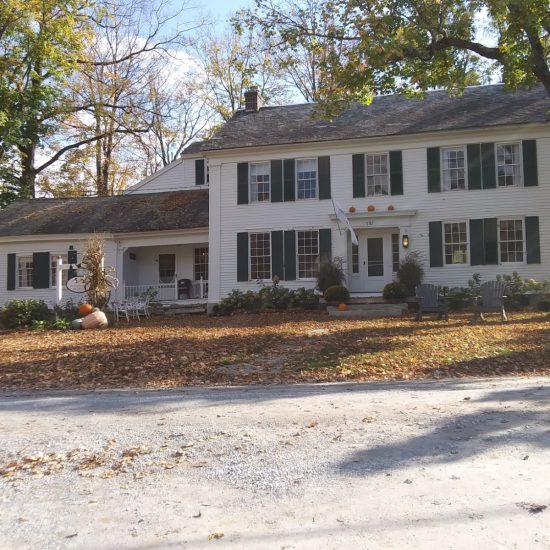 Former Rockwell Vermont home looks festive in autumn.